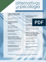 Revista Alternativas en Psicología - Agosto-Septiembre 2012