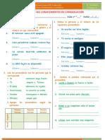 EXAMEN  GRAMÁTICA -  RV -  COMPRENSIÓN  LECTORA 3º grado