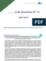 CIFRA - Informe de Coyuntura 12 -Abril 2013