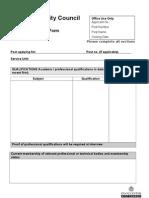 Part B Application Form