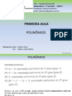 PRIMEIRA AULA- POLINÔMIOS