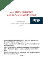 Sufi Islam, Humanism and an 'Universalist' Creeed