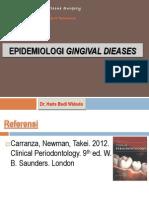 Epidemiologi Gingivitis 2013