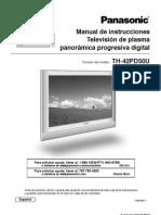 Manual Televisor Panasonic TH42PD50U