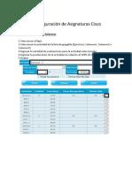 Configuracion Cisco