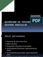 Reporte de caso para quirófano de periodoncia