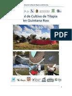 Manual de Cultivo de Tilapia en Quintana Roo