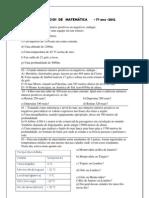 EXERCÍCIOS  DE   MATEMÁTICA - numeros inteiros introdução