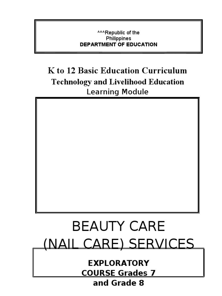 Queenie Amigale K To 12 Nail Care Learning Module 2