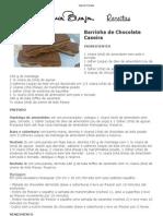 Barrinha de Chocolate Caseira do Joaquim Lopes _ Doces e Sobremesas _ Mais Você _ Receitas
