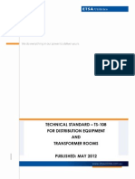 Ts108 Technical Standard for Distribution Equipment and Transformer Rooms