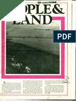 People & Land - Volume 1 Number 1 - Summer 1973 OCR Reduced