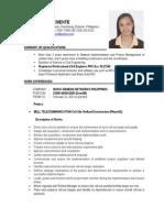 Maricel Clemente CV Civil Engineer