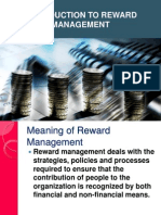 1 Introduction to Reward Management
