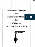 Butterfly Valves Waferdesign Manual o&m