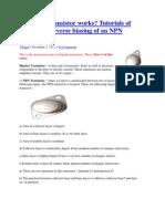 How NPN Transistor Works