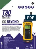 Motorola TLKR T80 Extreme Walkie Talkie Specification sheet