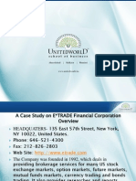 A Case Study on ETRADE FinancialCorporation Presentation - Unitedworld School of Business