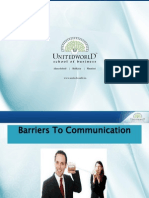 Barriers to Communication Presentation - Unitedworld School of Business