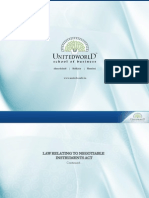 Business Law (Negotiable Instrument Act II) Presentation - Unitedworld School of Business