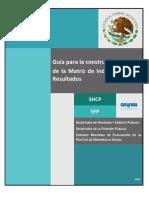 SHCP, Guia para la construcción de la MIR