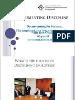 Documenting Discipline