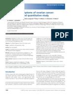 Identifying Symptoms of Ovarian Cancer a Qualitative and Quantitative Study