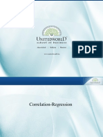 Correlation & Regression - 2  Presentation - Unitedworld School of Business