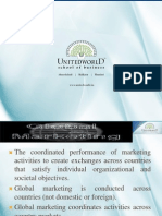 Global Aspects of Marketing Presentation - Unitedworld School of Business