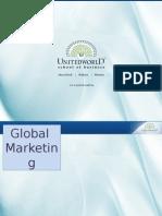 Global Marketing Presentation - Unitedworld School of Business