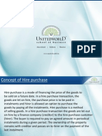 Hire Purchase Agreement Presentation - Unitedworld School of Business