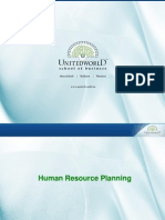 Human Resource Planning Presentation - Unitedworld School of Business
