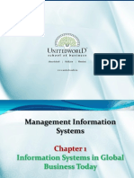 Information System in Global Business Presentation - Unitedworld School of Business