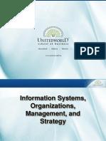 Information Systems in Organizations Presentation - Unitedworld School of Business
