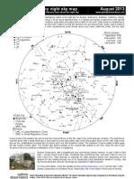 August 2013 night sky chart