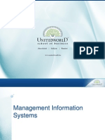 Level of People and Their Information Needs Presentation - Unitedworld School of Business