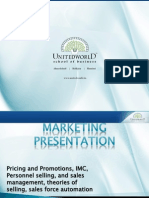 Marketing Management II  Presentation - Unitedworld School of Business