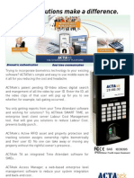 ACTAtek3 Brochure v1.8