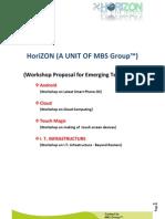 Emerging Technology Workshop Proposal