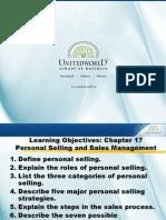 Personal Selling & Sales Management Presentation - Unitedworld School of Business