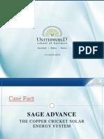Sage Advance Case Presentation - Unitedworld School of Business
