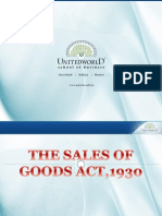 Sales of Goods Act Presentation - Unitedworld School of Business