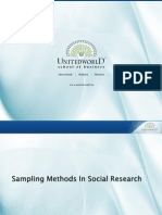 Sampling Methods in Social Research Presentation - Unitedworld School of Business
