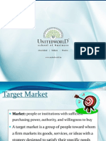 Target Market Presentation - Unitedworld School of Business