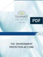 The Environment Protection Act,1986 Presentation - Unitedworld School of Business