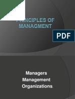 Principle of Managment