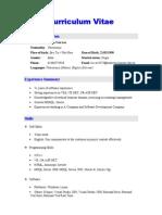 SampleResume-ITDeveloper