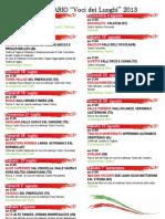 voci dei luoghi 2013 - calendario.