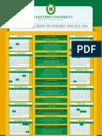 FEU Collegiate Calendar 2013-2014