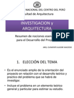 Investigacion y Arquitectura